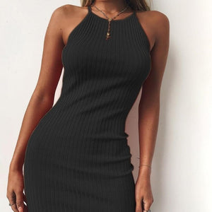 Women's Sexy Club Backless Spaghetti Strap Dress