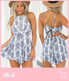 Women's Sexy Strappy Floral Print Sleeveless Playsuit