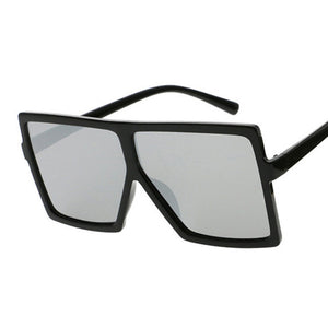 Flat Top Oversize Square Sunglasses