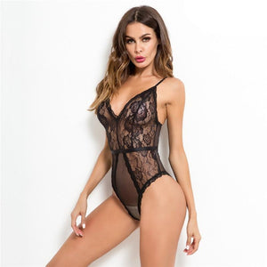 Sexy Lace Mesh Sleeveless Bodysuit