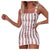 Women's Vintage Vertical Striped Dress