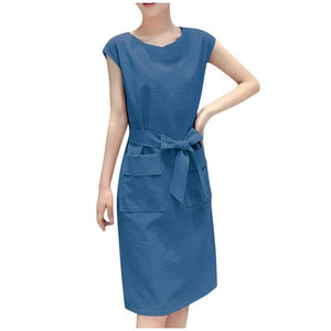 Knee-Length O-Neck Dress For Women