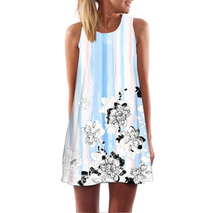 Round Neck Sleeveless Dress for Women