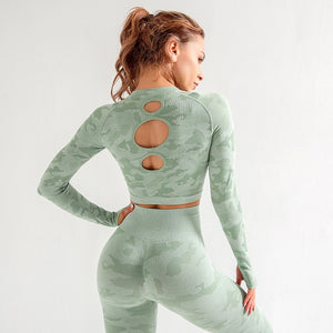 Seamless Clothing Long Sleeve Leggings