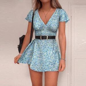 Printing  Sleeveless dress for women