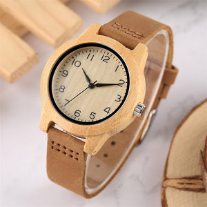 Elegant Bamboo Wooden Watches