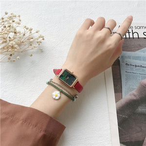 Rectangle Elegant Quartz Wristwatches