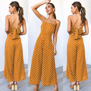 Sleeveless Wide Leg Pants Jumpsuit