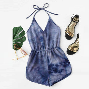 Casual Streetwear Backless Playsuit
