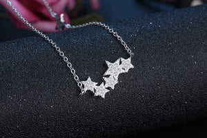 Crystal Stars Necklaces