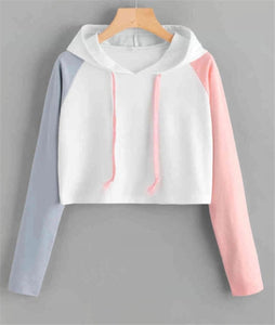 Long Sleeve Color Matching Pullover