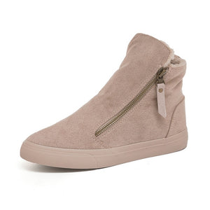 Warm Plush Platform Shoes