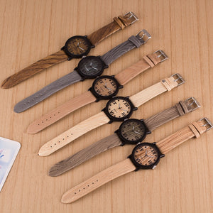 Wood PU Leather Watches
