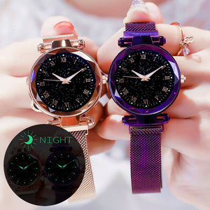 Magnet Buckle Starry Sky Watch