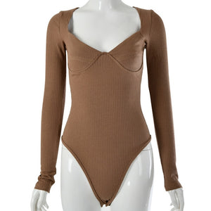 Vintage Square Collar Bodysuit