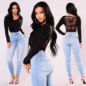 Skinny High Waist Stretch Jeans