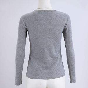 Slim Lace Long Sleeve Knitted Tops