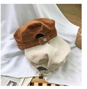 Embroidery Wool Hat Cap