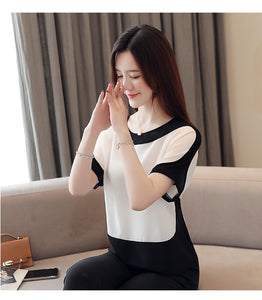 Solid Short O-Neck Batwing Sleeve Tops