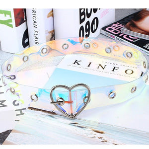Holographic Clear Waist Belt
