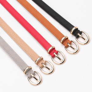 Thin Leather Strap Waist Belt