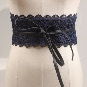 Wide Corset Lace Belt