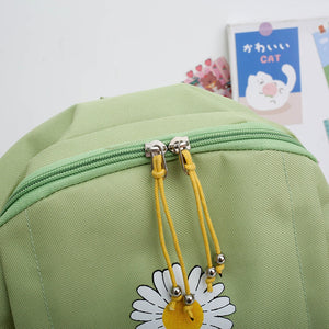 Canvas Daisy Print Backpack