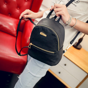 Small PU Leather Backpack