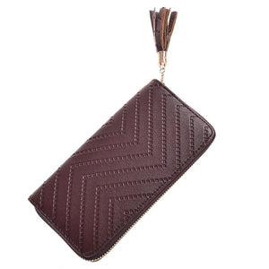 Long Leather Checkbook Bag