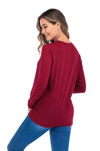 Long Sleeve Maternity Belly T Shirt