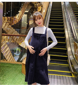 Corduroy Dress + Knitted Maternity Shirts Suits