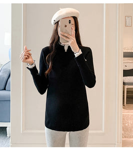 Thick Warm Knitted Maternity Shirt Clothes