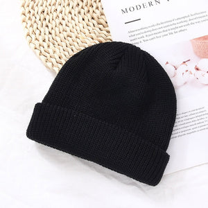 Soild Color Wool Knitted Hats