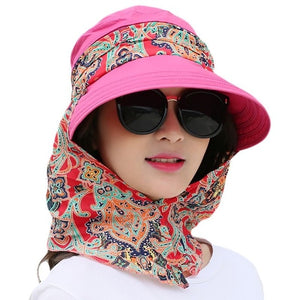 Detachable Shawl Sun Visor Hat