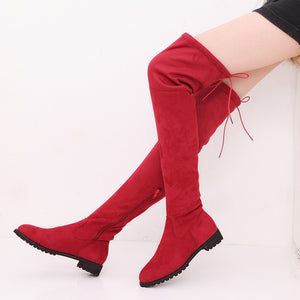 Over the Knee Suede Long Boots