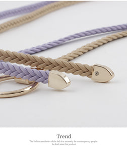 weaving casual leather chain belt