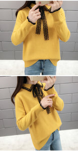 Bowknot Loose Sweater