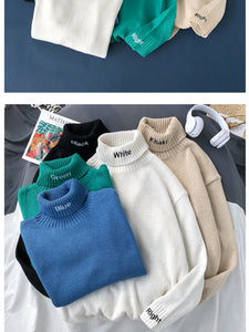 Letter Embroidery Couple Pullover Tops