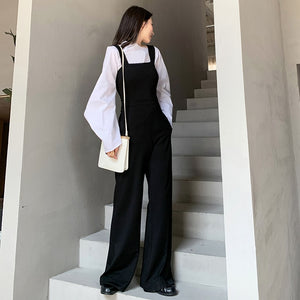 Strappy Pockets Wide Leg Jumpsuit