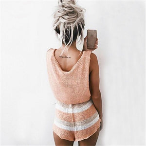 Knitted Sexy Overalls Playsuit