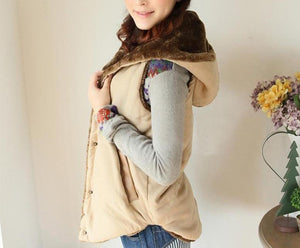 Length Hooded Thick Coat