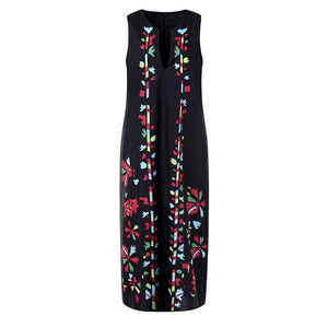 Bohemian Vintag Floral Printed Dress