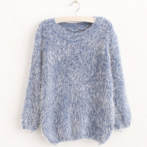 O-Neck Long Sleeve Loose Sweater