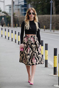 A -Line Flared High Waist Skirts