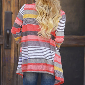 Stylish Collarless Long Sleeve Cardigan