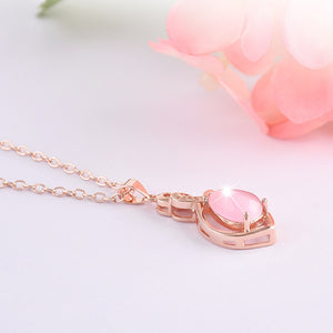 Cute Pink Resin Pendant Necklace
