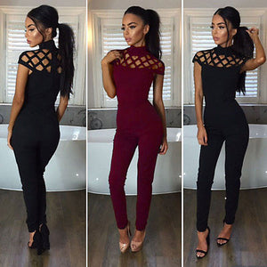 Fashion Casual Short Sleeve Jumpsuit