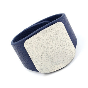 Wide PU Leather Bracelet
