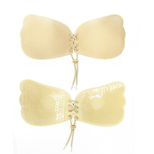 Silicone Push Up wire free Bra