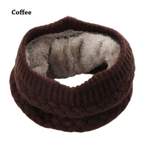 O Ring Knitted Wool Scarf